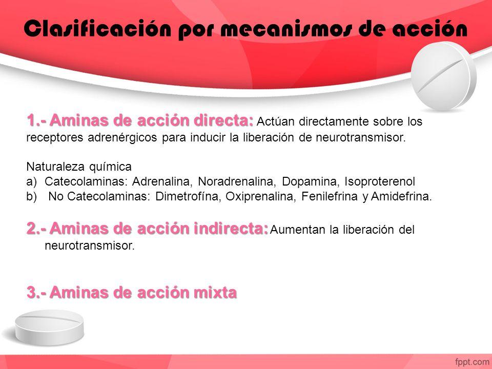 Clasificación por mecanismos de acción