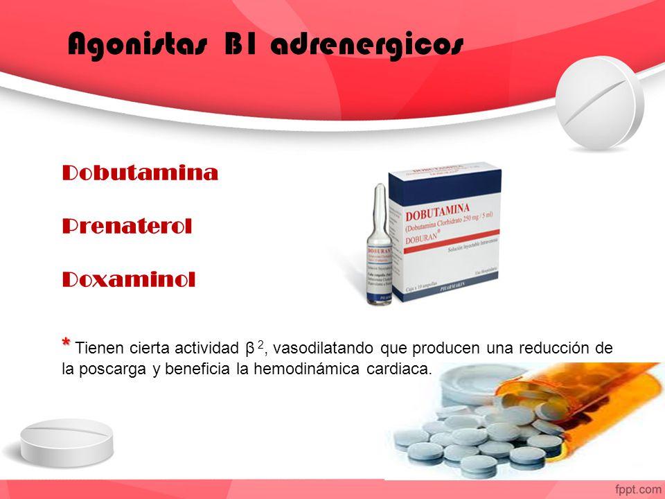 Agonistas B1 adrenergicos