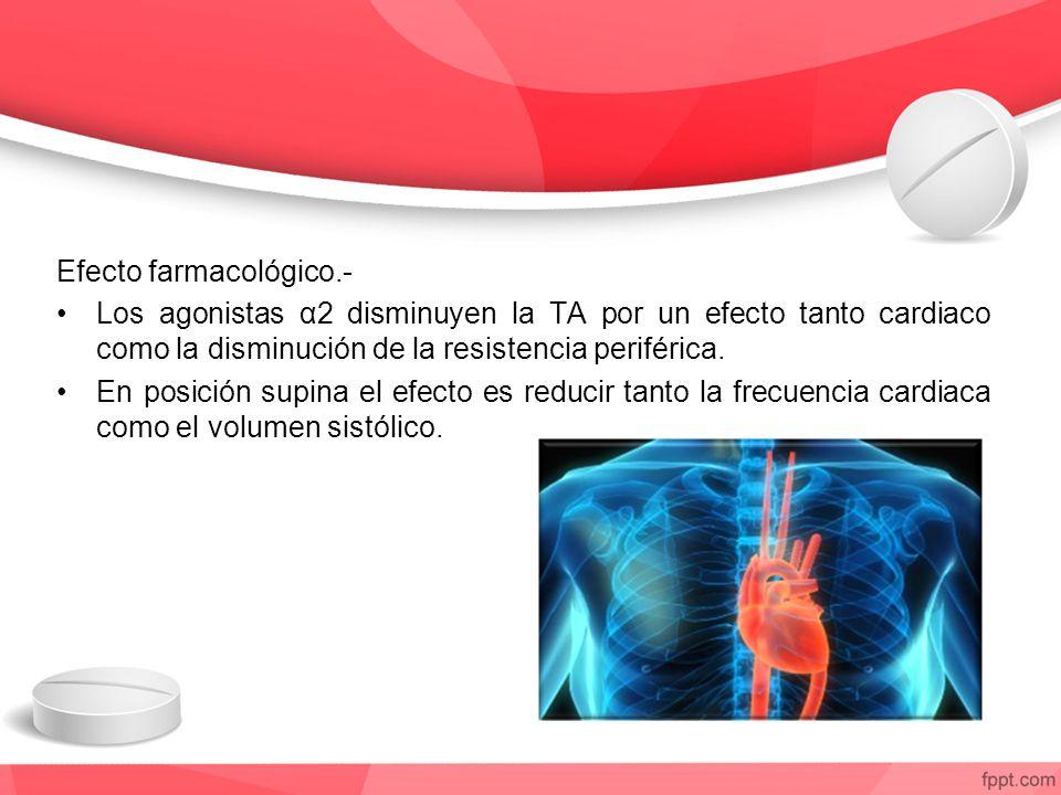 Efecto farmacológico.-