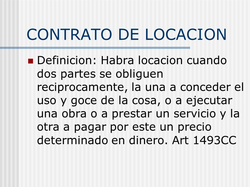 CONTRATO DE LOCACION