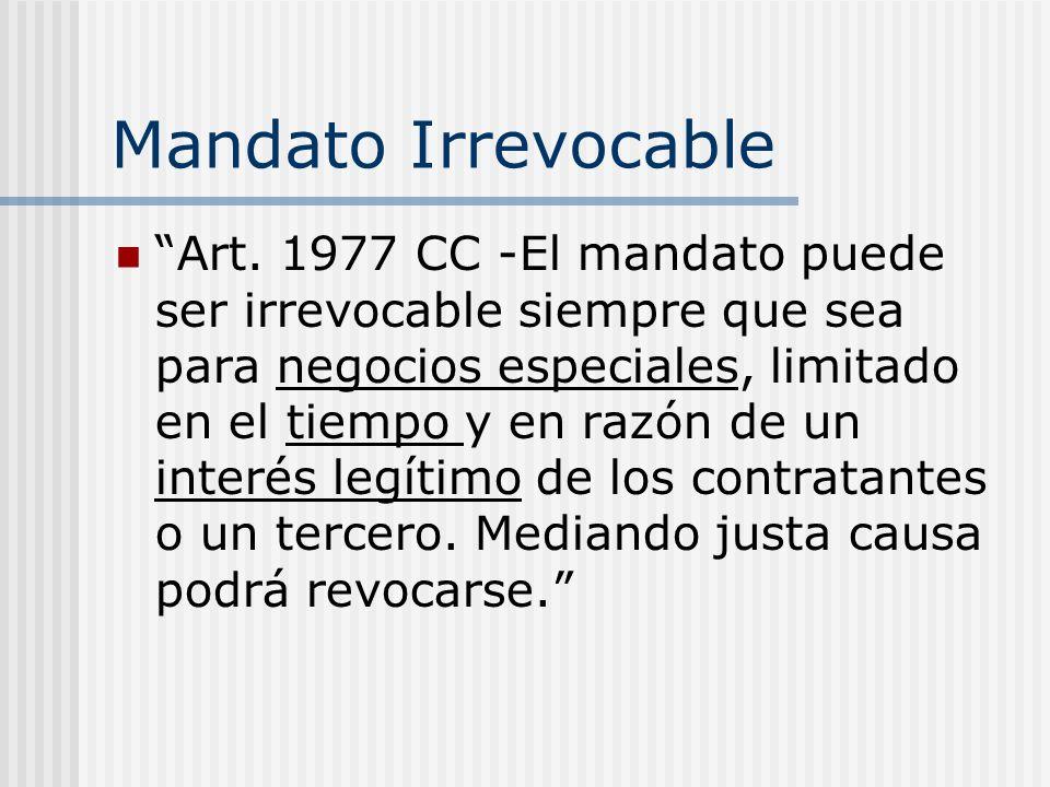 Mandato Irrevocable