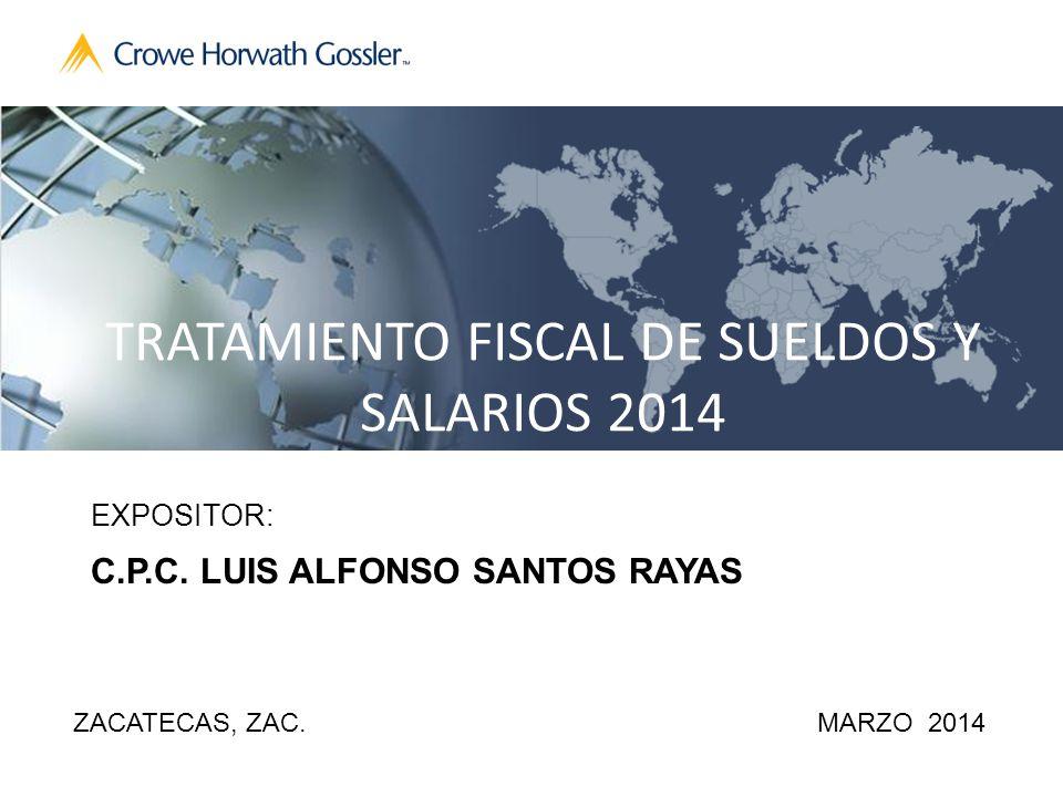 TRATAMIENTO FISCAL DE SUELDOS Y SALARIOS 2014