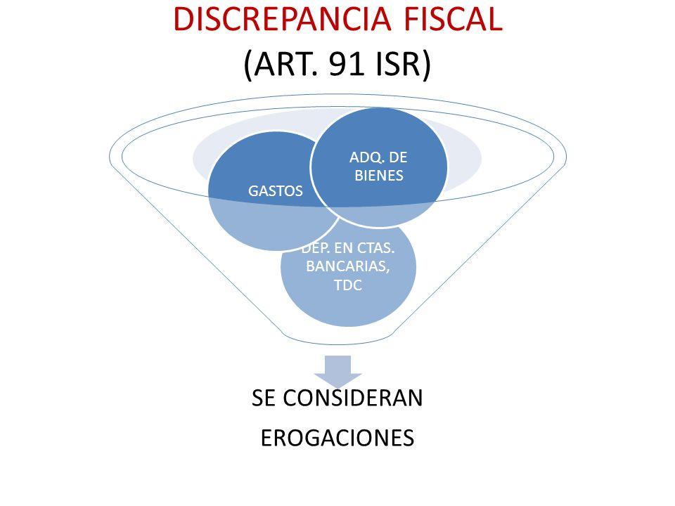 DISCREPANCIA FISCAL (ART. 91 ISR)