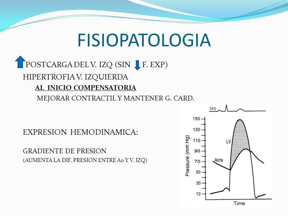 FISIOPATOLOGIA POSTCARGA DEL V. IZQ (SIN F. EXP)