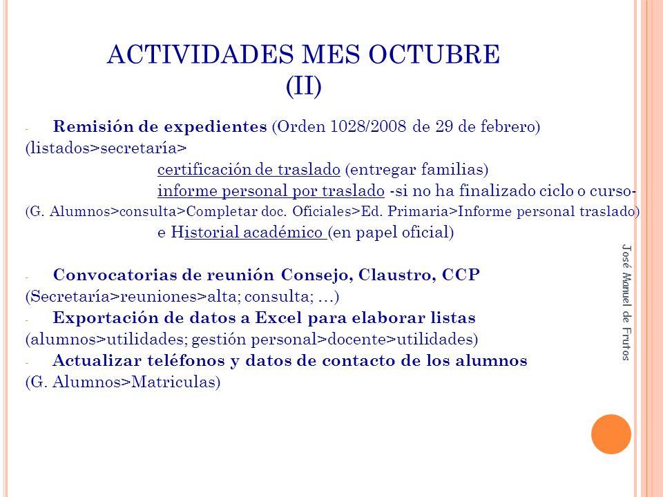 ACTIVIDADES MES OCTUBRE (II)