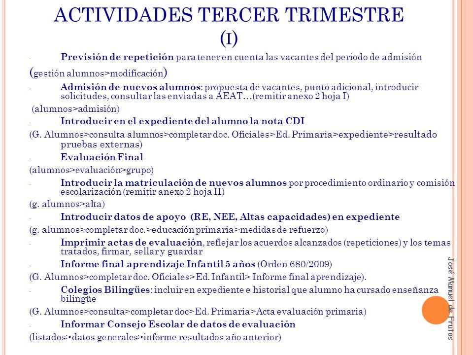 ACTIVIDADES TERCER TRIMESTRE (i)