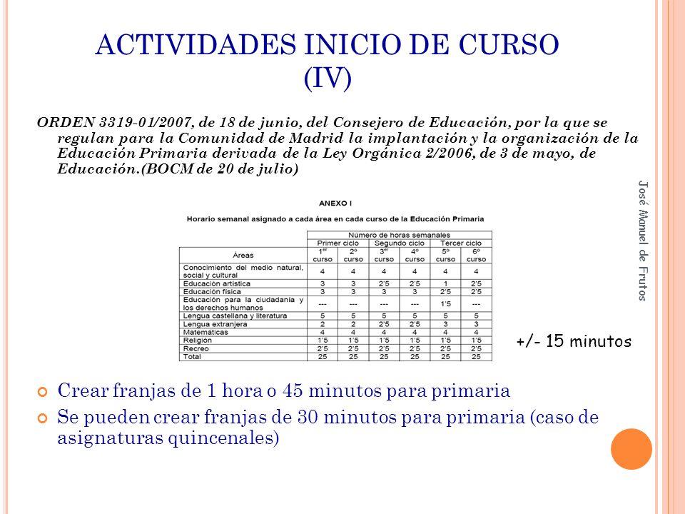 ACTIVIDADES INICIO DE CURSO (IV)