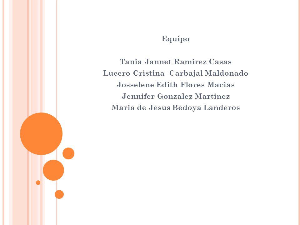 Tania Jannet Ramirez Casas Lucero Cristina Carbajal Maldonado