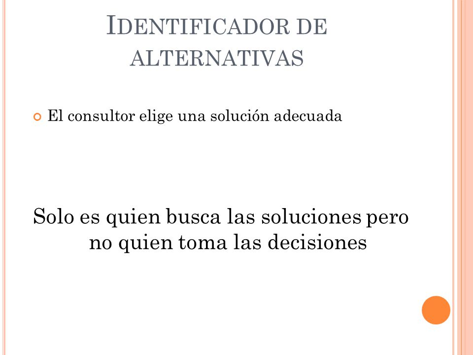 Identificador de alternativas