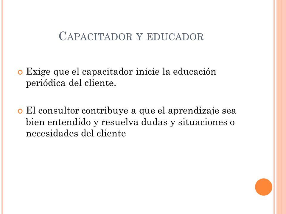 Capacitador y educador