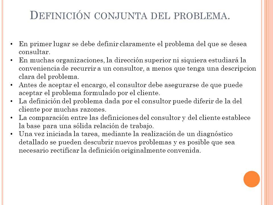 Definición conjunta del problema.