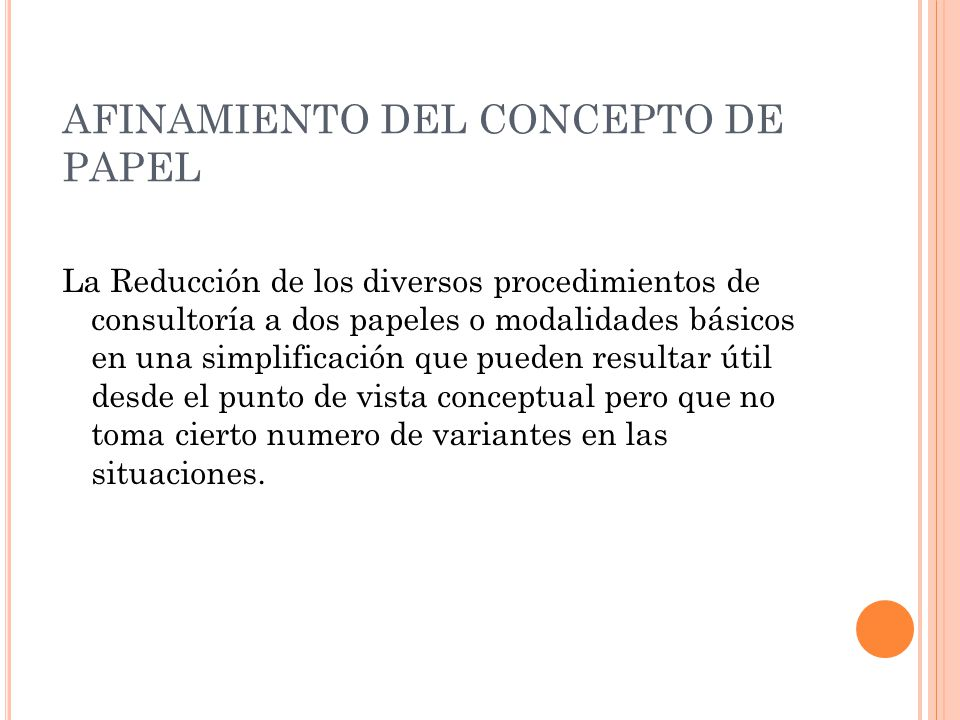 AFINAMIENTO DEL CONCEPTO DE PAPEL