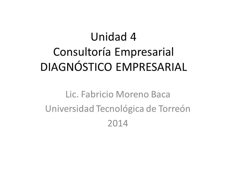 Unidad 4 Consultoría Empresarial DIAGNÓSTICO EMPRESARIAL