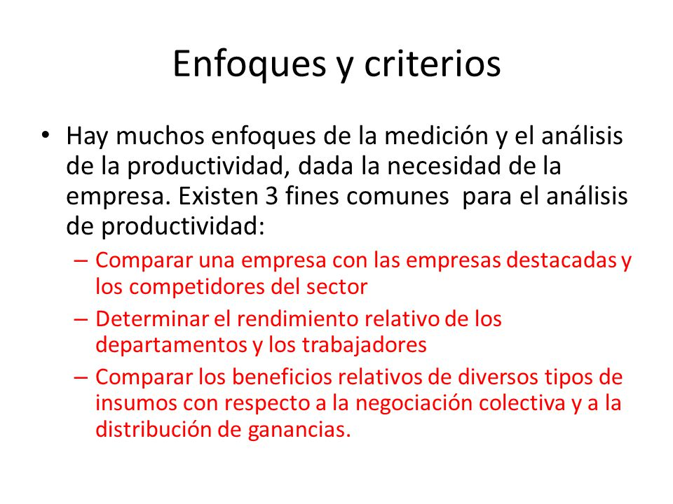 Enfoques y criterios