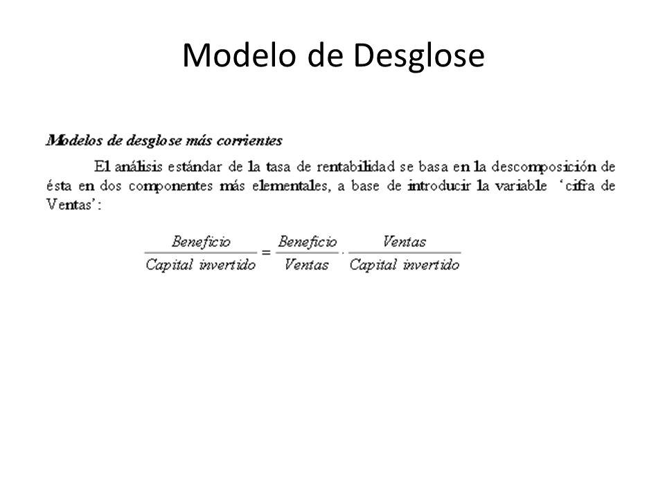 Modelo de Desglose