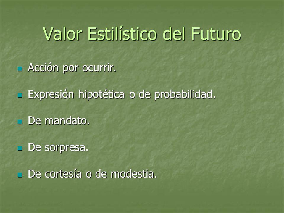 Valor Estilístico del Futuro