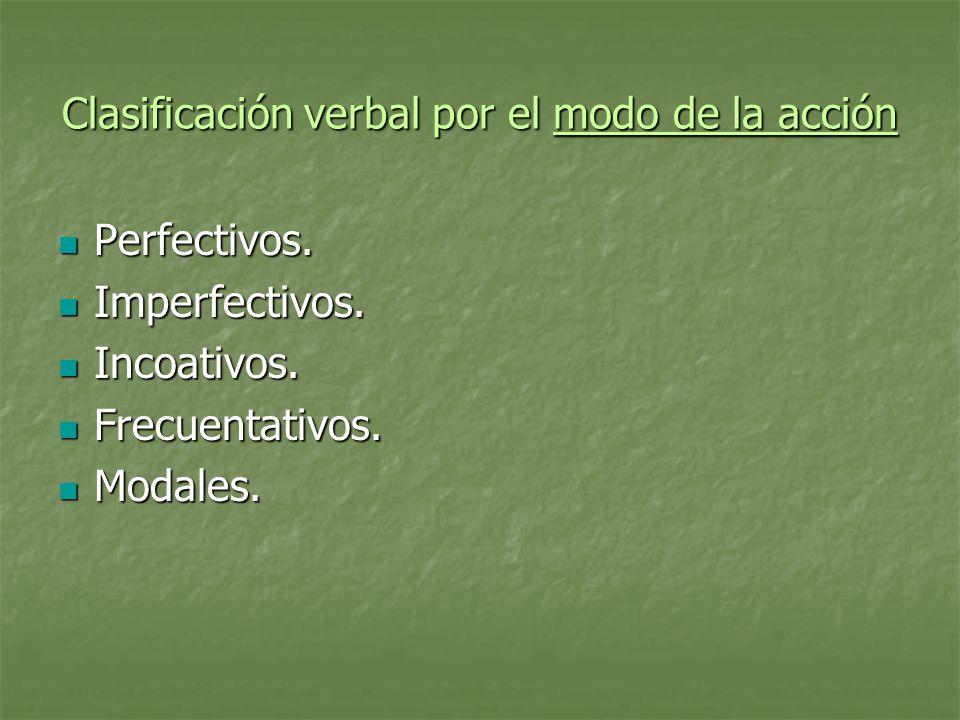 Clasificación verbal por el modo de la acción