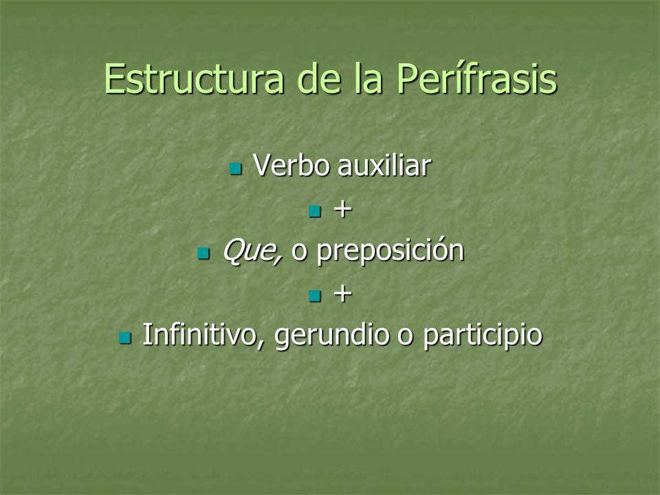 Estructura de la Perífrasis