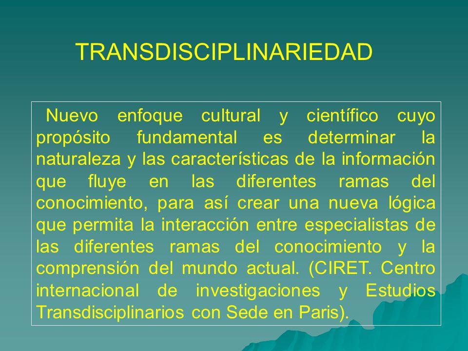 TRANSDISCIPLINARIEDAD