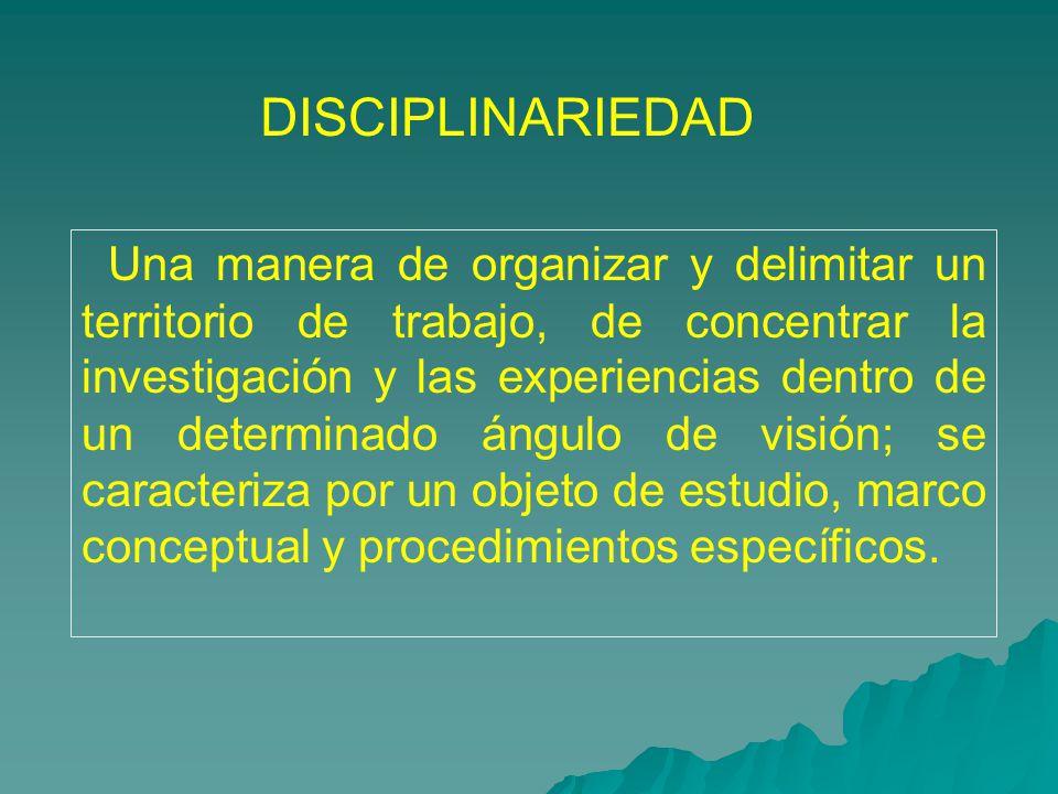DISCIPLINARIEDAD
