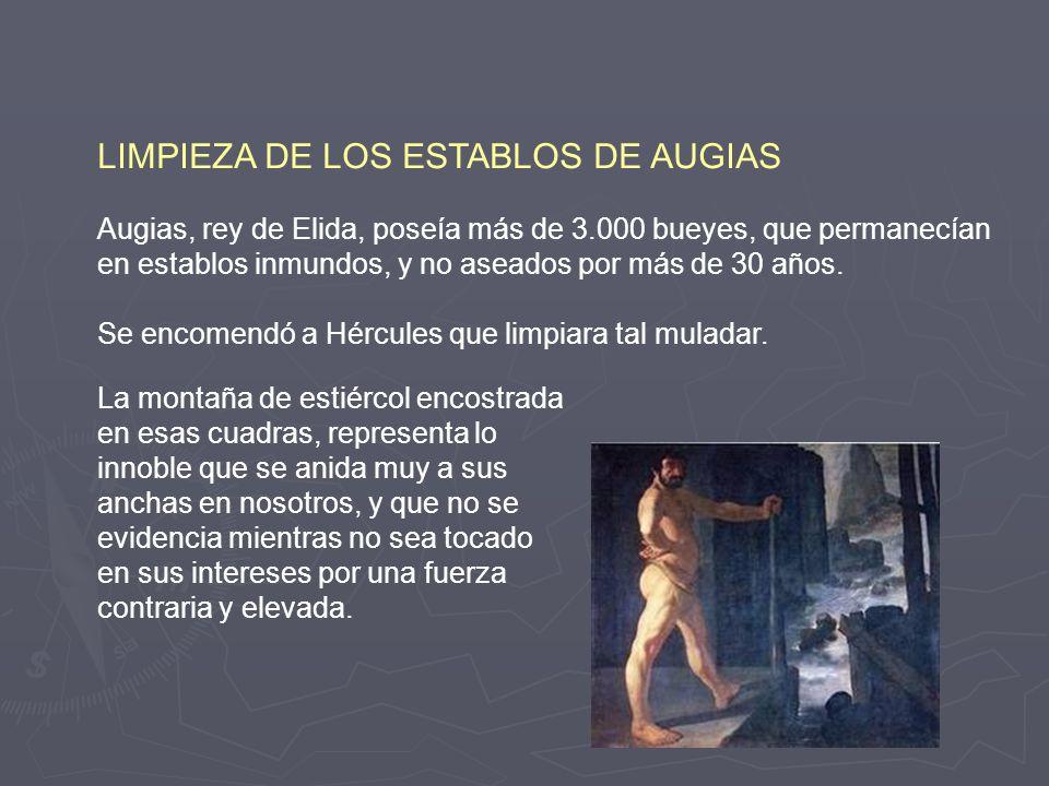LIMPIEZA DE LOS ESTABLOS DE AUGIAS