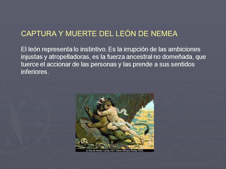 CAPTURA Y MUERTE DEL LEÓN DE NEMEA