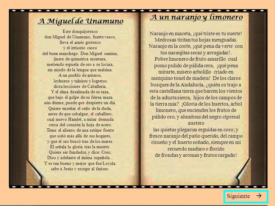 A un naranjo y limonero A Miguel de Unamuno