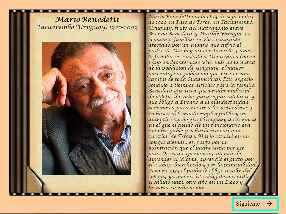 Mario Benedetti Tacuarembó (Uruguay) 1920-2009