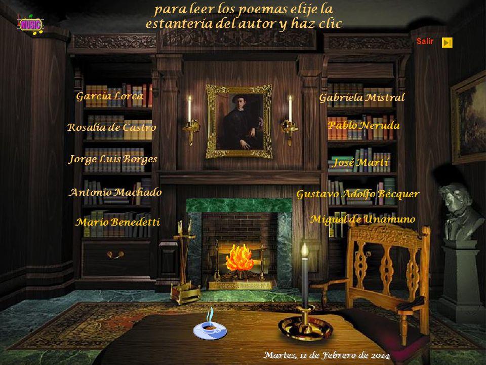 para leer los poemas elije la estantería del autor y haz clic