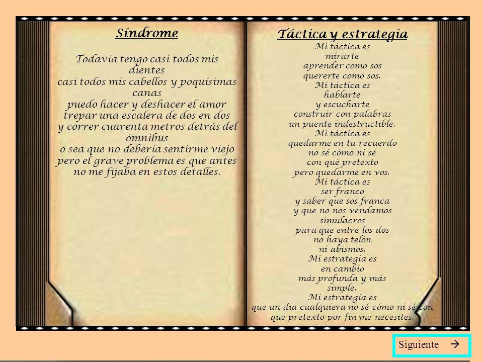 Síndrome Táctica y estrategia