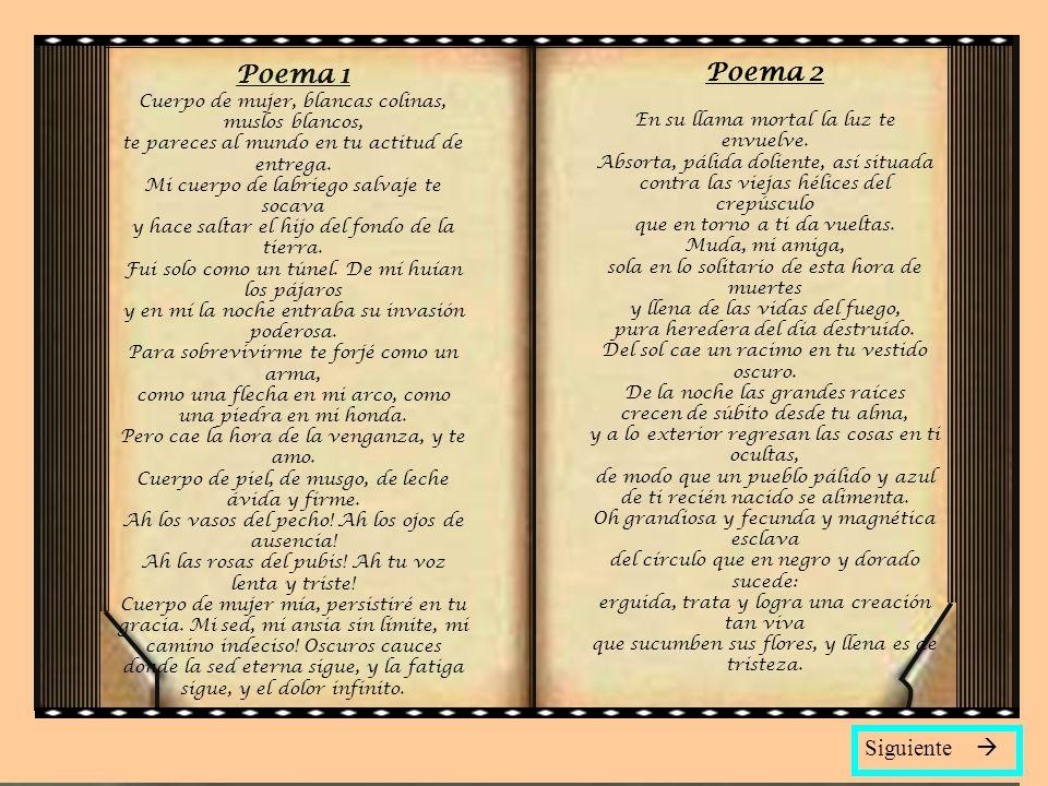 Poema 1 Poema 2 Siguiente 
