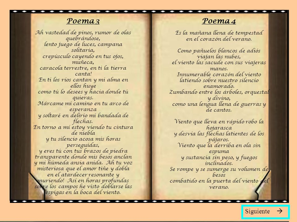 Poema 3 Poema 4 Siguiente 