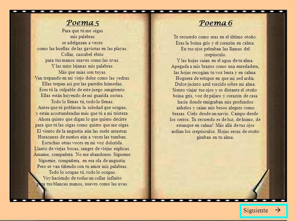 Poema 5 Poema 6 Siguiente 