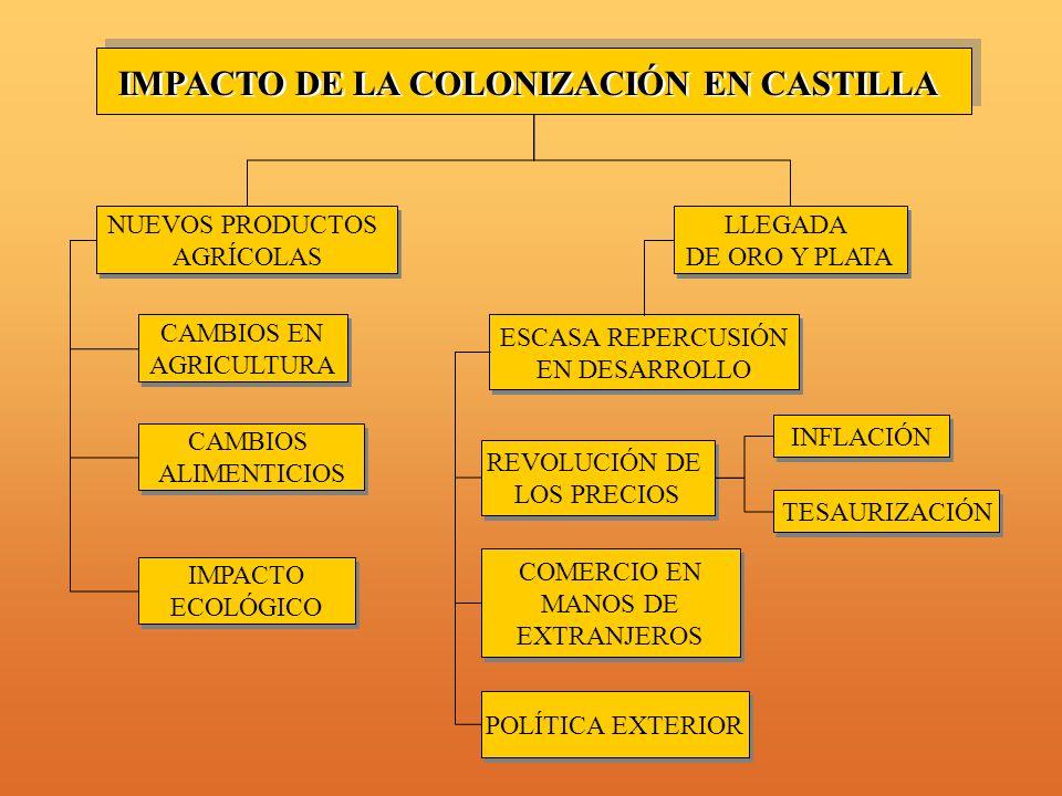 IMPACTO DE LA COLONIZACIÓN EN CASTILLA