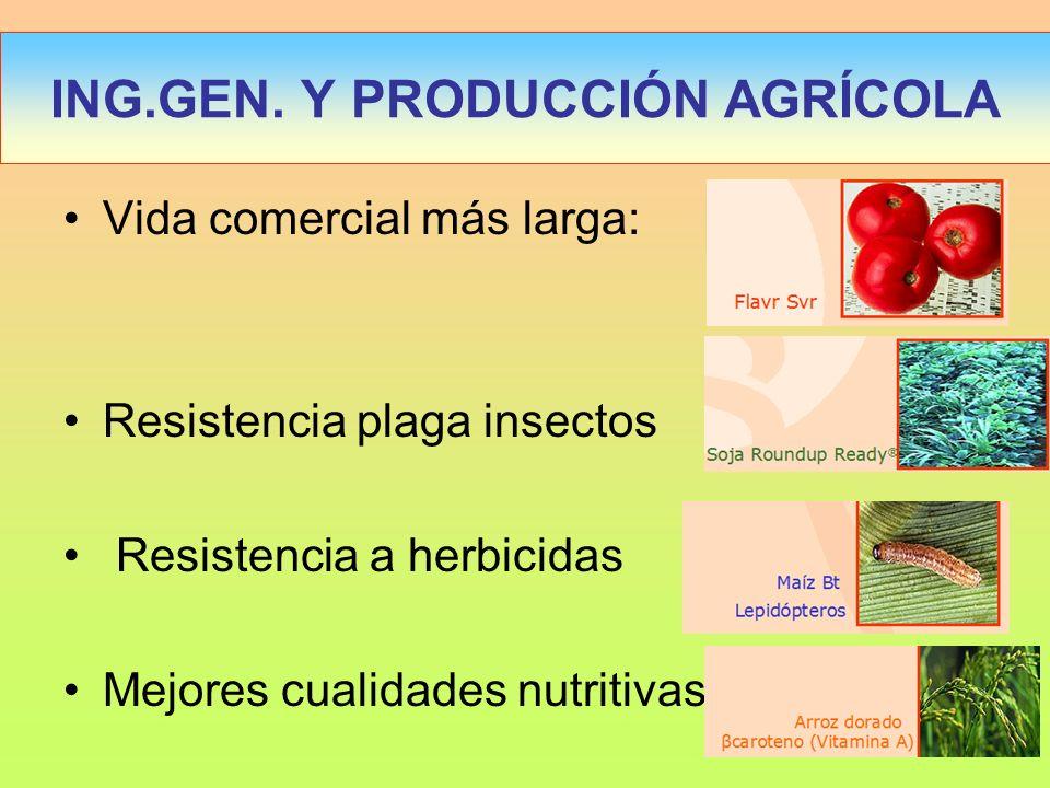 ING.GEN. Y PRODUCCIÓN AGRÍCOLA