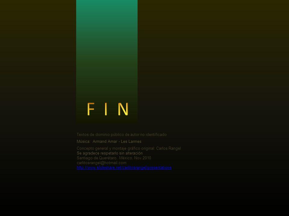 F I N Textos de dominio público de autor no identificado