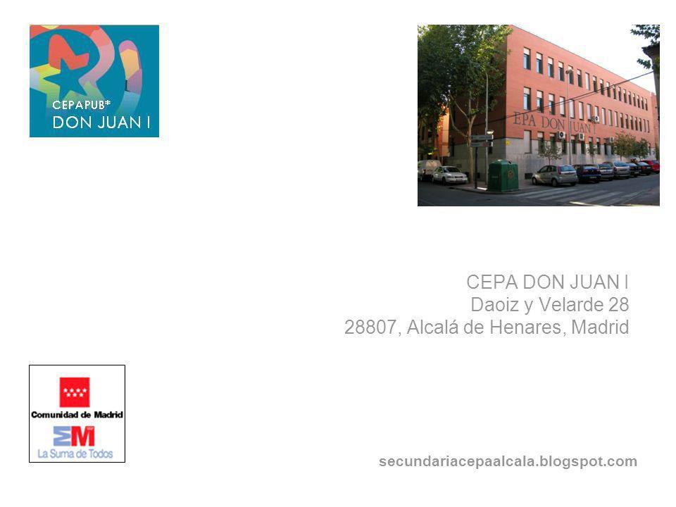 CEPA DON JUAN I Daoiz y Velarde 28 28807, Alcalá de Henares, Madrid