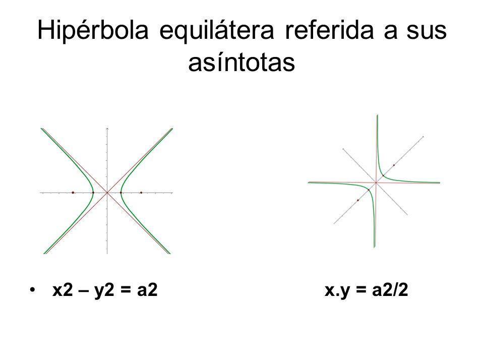 Hipérbola equilátera referida a sus asíntotas