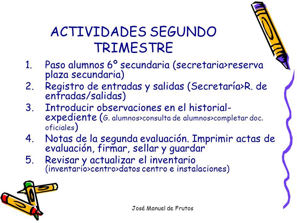 ACTIVIDADES SEGUNDO TRIMESTRE