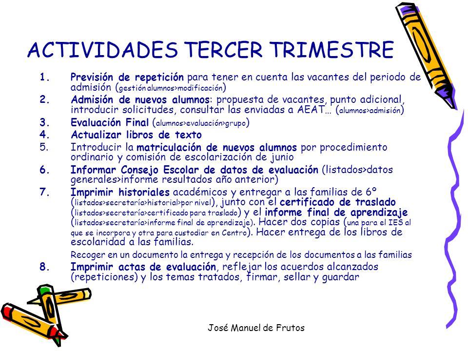 ACTIVIDADES TERCER TRIMESTRE
