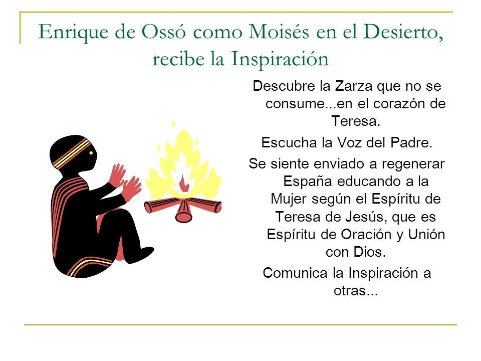 Enrique de Ossó como Moisés en el Desierto, recibe la Inspiración