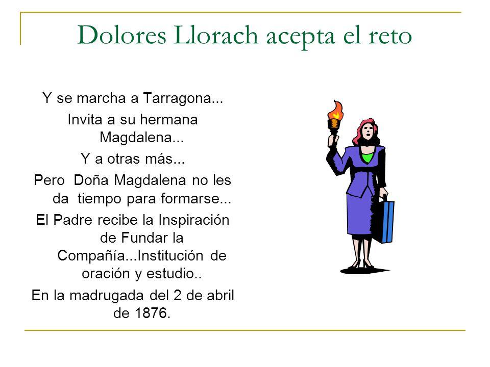 Dolores Llorach acepta el reto