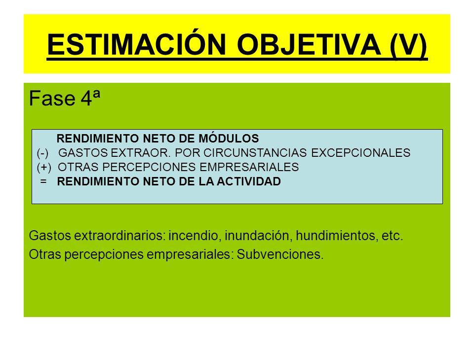 ESTIMACIÓN OBJETIVA (V)