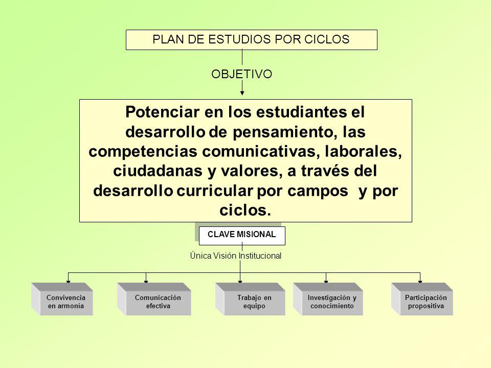 PLAN DE ESTUDIOS POR CICLOS