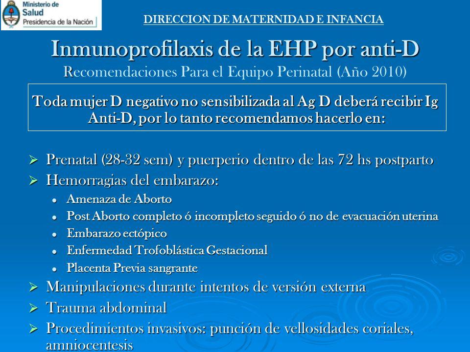 DIRECCION DE MATERNIDAD E INFANCIA