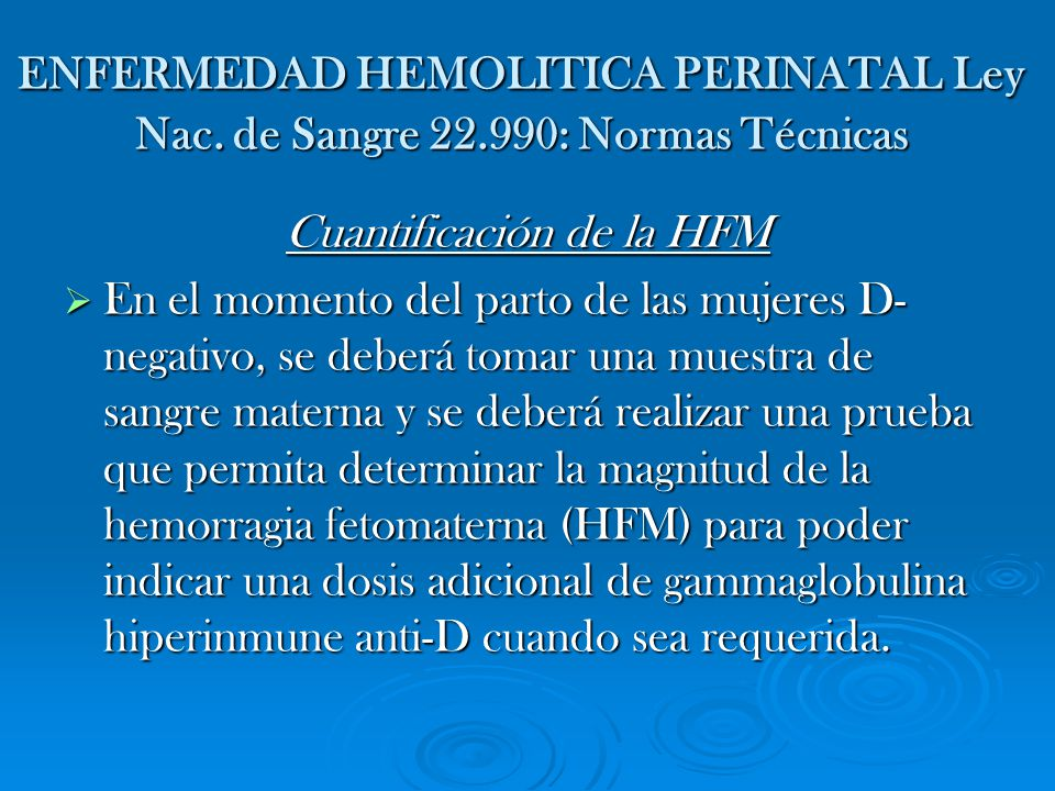 Cuantificación de la HFM