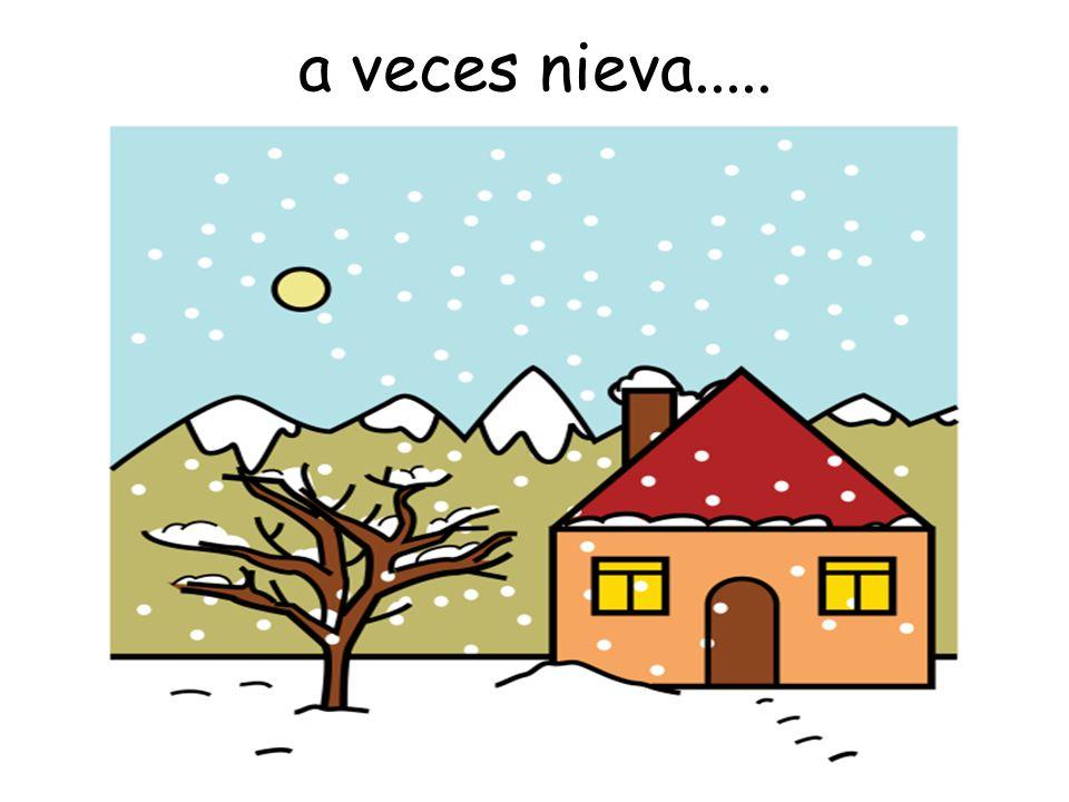 a veces nieva.....