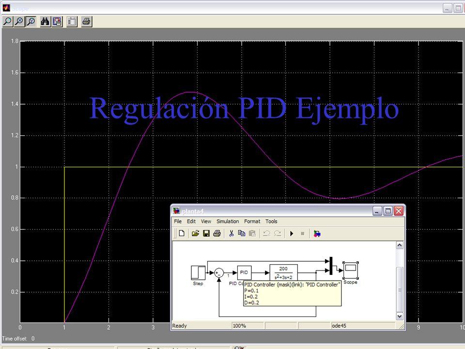 Regulación PID Ejemplo