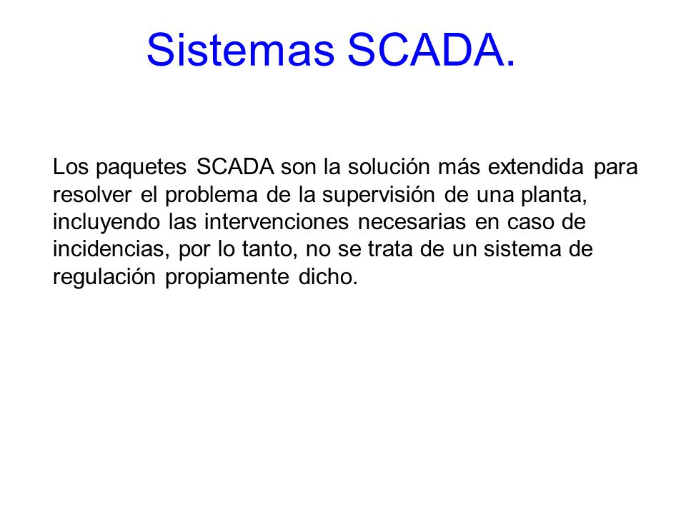Sistemas SCADA.