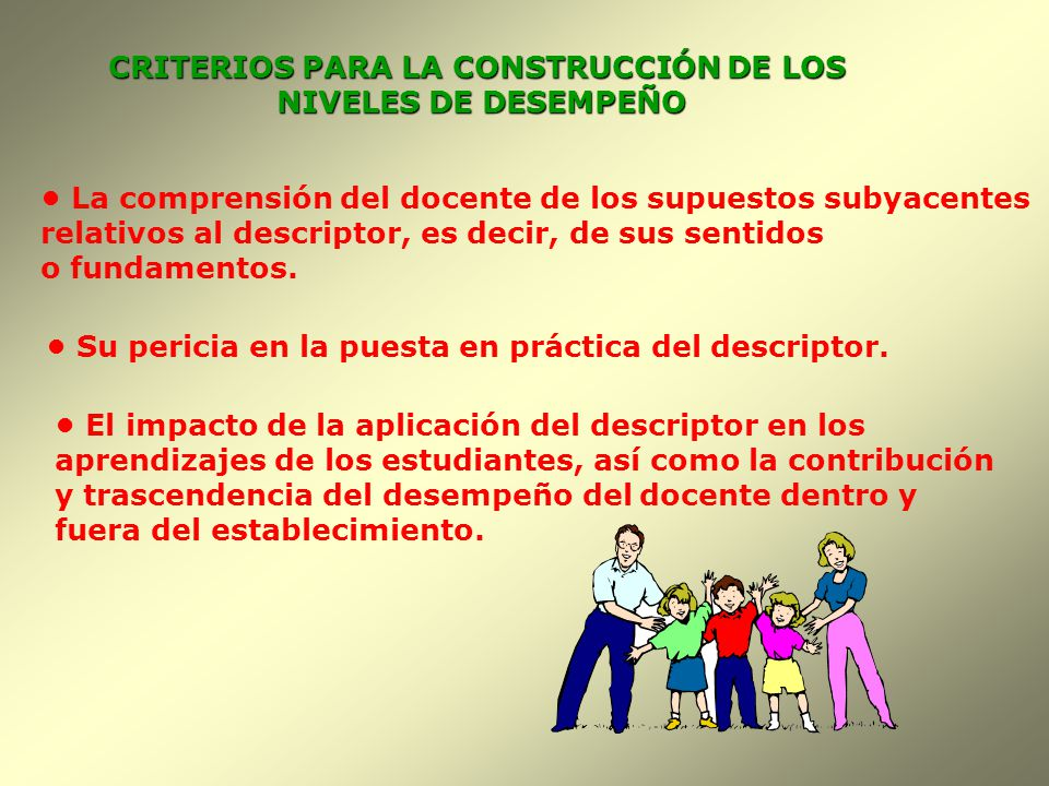 CRITERIOS PARA LA CONSTRUCCIÓN DE LOS